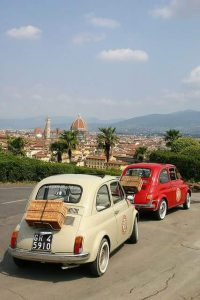 Fiat 500 italian car, italian tour