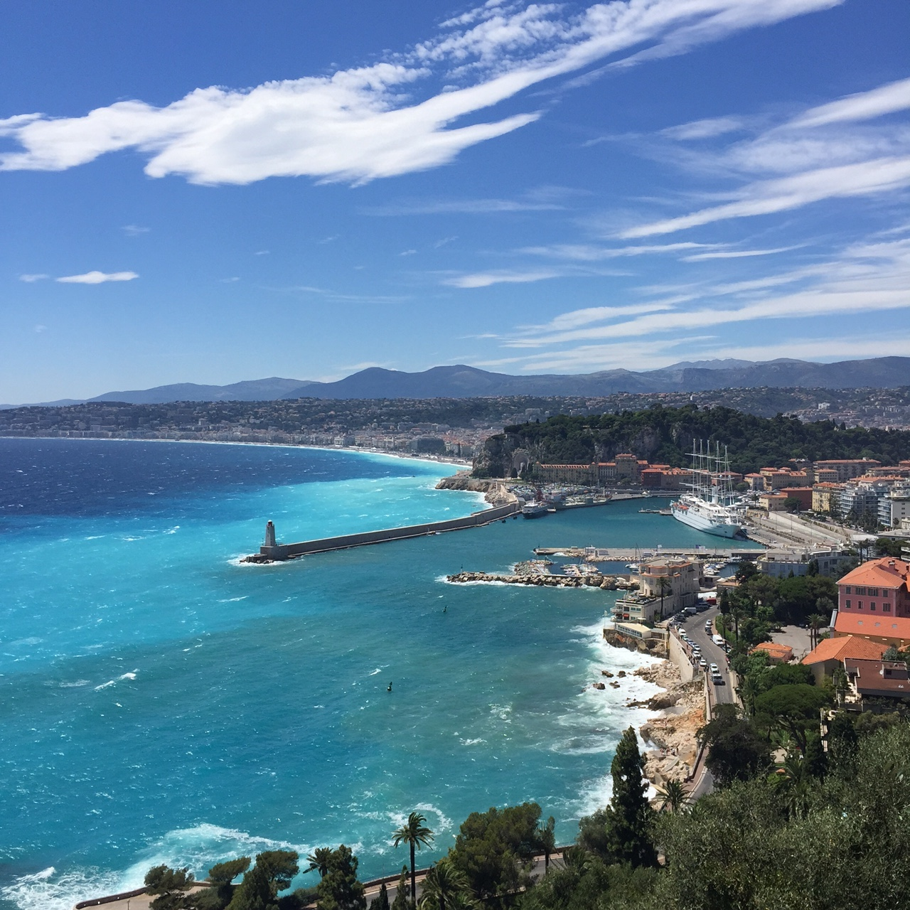 Private tour french riviera Promenade des anglais coastal Nice