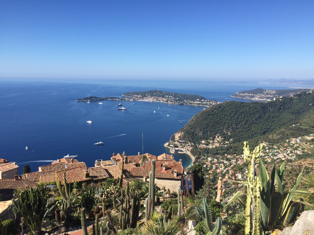 Eze hill top and the french riviera