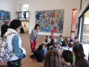 Cc guiding in fondation maeght with children