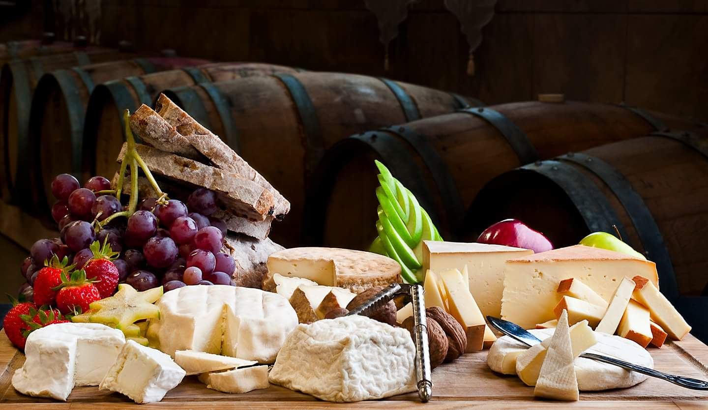 Wine cheese and the best produces of the french riviera