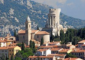 La turbie vilalge, thopy of the Alps, French riviera guided tour