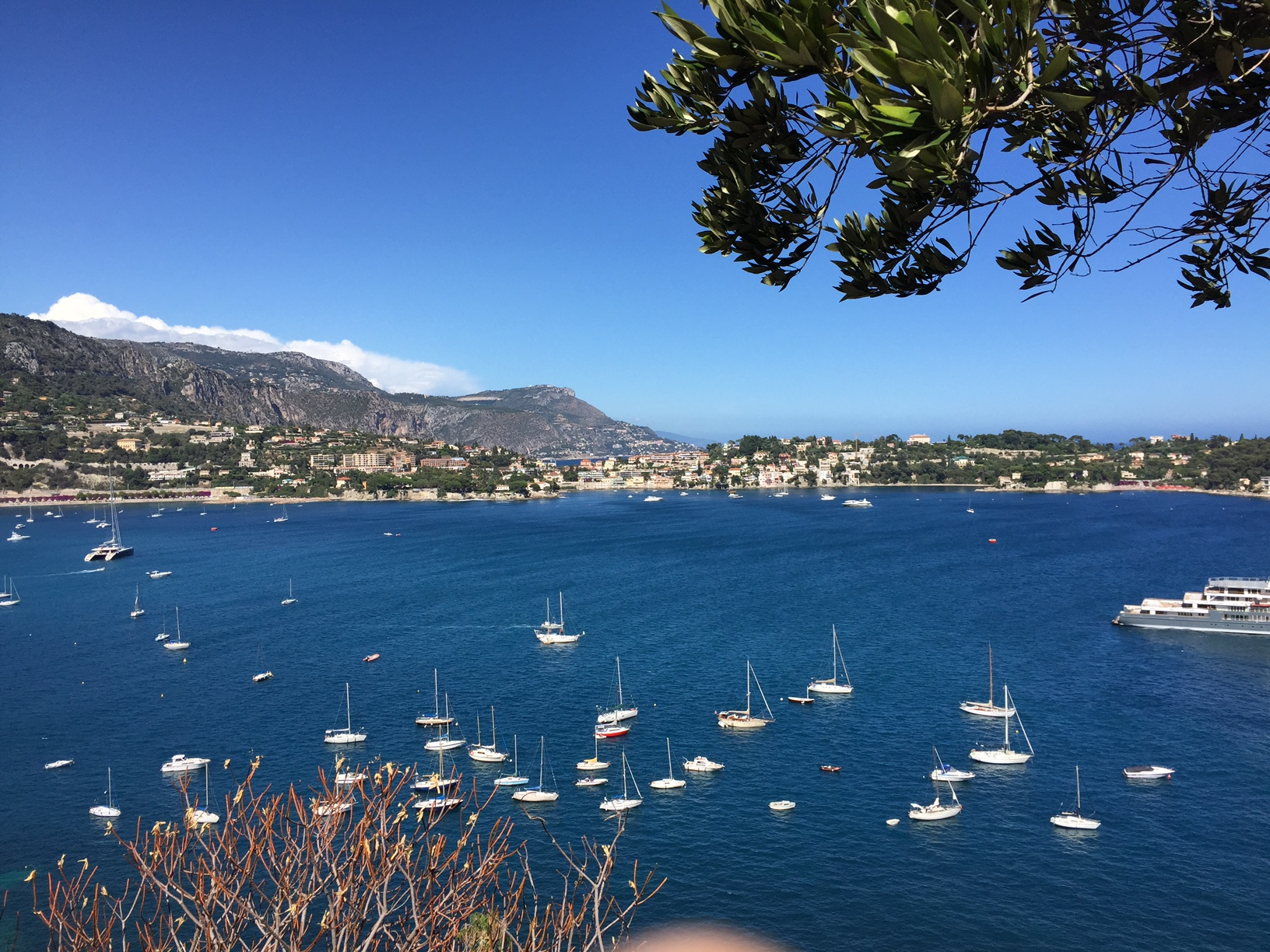 Views of the french riviera Cap ferrat, from rothschild Villa