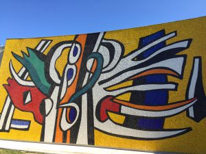 Fernand Leger french riviera ont he footpath of the artists