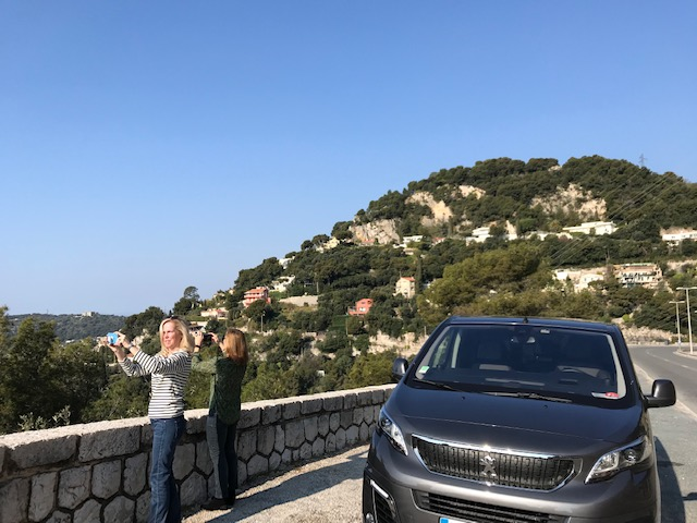 view with a private guide on the French riviera